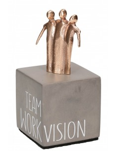 "Statueta bronz si beton ""Echipa"""