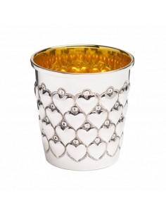 Cana argint masiv Cuore interior aurit