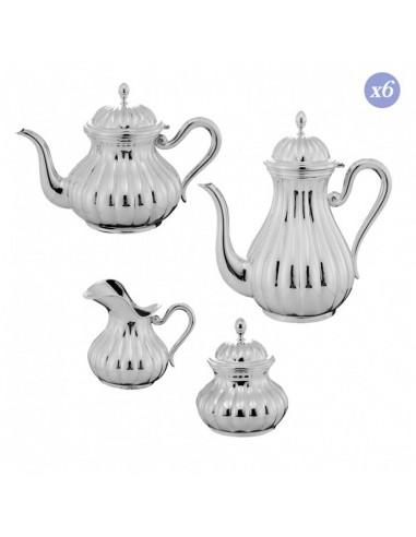 Set ceai cafea argint masiv Meridiani 6 persoane