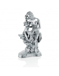 "Statueta argint ""Mama si fiica"" 30cm"