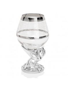 Set 6 pahare argint si cristal Phoenix