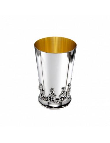 Pahar argint masiv placat cu aur Wave
