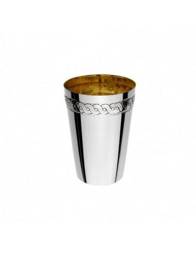 Pahar argint masiv placat cu aur Treccia