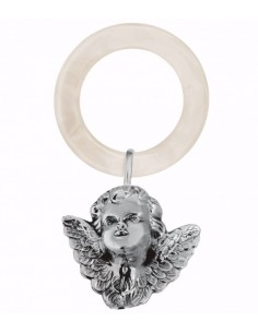 Jucarie dentitie zornaitoare argint masiv Angel