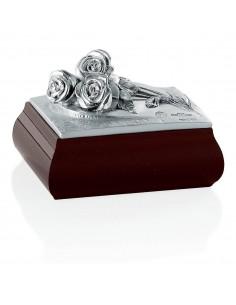 Caseta bijuterii argint Roses