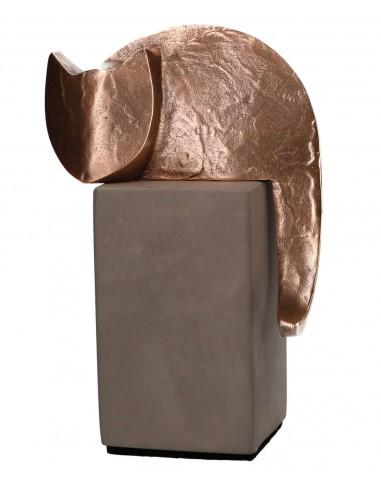 "Statueta bronz si beton ""Motan"""