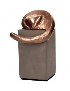 "Statueta bronz si beton ""Motan tolanit"""