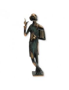 "Statueta bronz si beton ""Omul cu carti"" editie limitata"