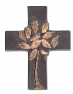 Cruce bronz masiv cu pomul vietii