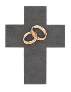 Cruce piatra cu verighete bronz masiv