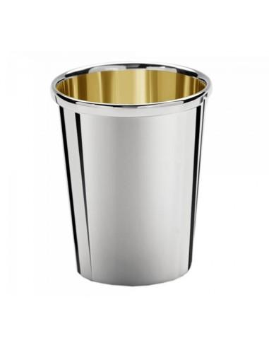 Pahar argint masiv si aur Conico Pinot 13cm