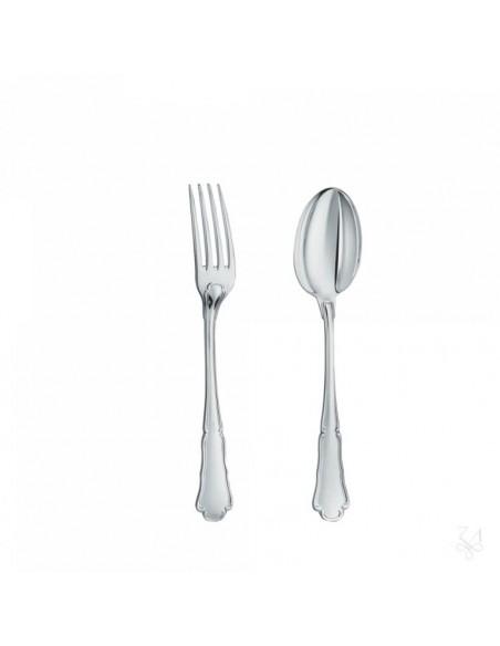 Set lingura si furculita copii argint masiv Barocco