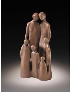 Statueta bronz Familie cu patru copii