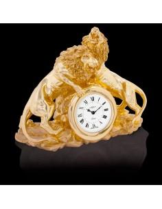 """Ceas de masa aurit """"Lions"""""""