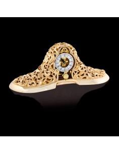 Ceas mecanic aur Baroque cu pendula 13cm