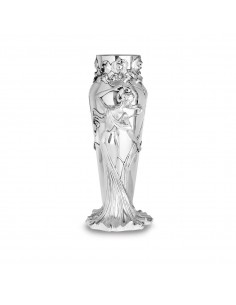Vaza argint Fata cu flori