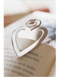 Semn de carte argint masiv Inima