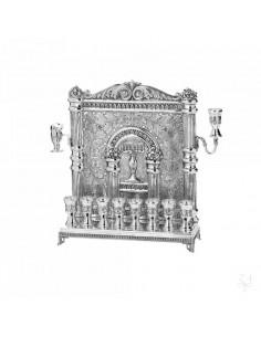 Menorah perete cu 8 pahare argint masiv