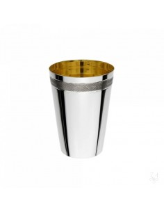 Pahar argint masiv placat cu aur Zigrinato