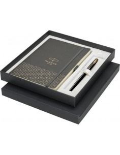 Set stilou Parker Sonnet Royal placat cu aur 23k cu notes