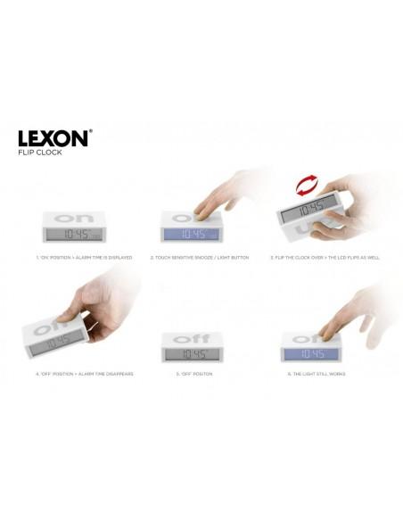 Ceas inteligent cu alarma Lexon Flip+ black