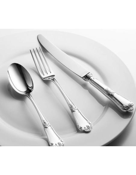 Set tacamuri argint masiv Floreale, 48 piese