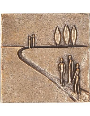 """Relief bronz """"Pe un nou drum"""""""