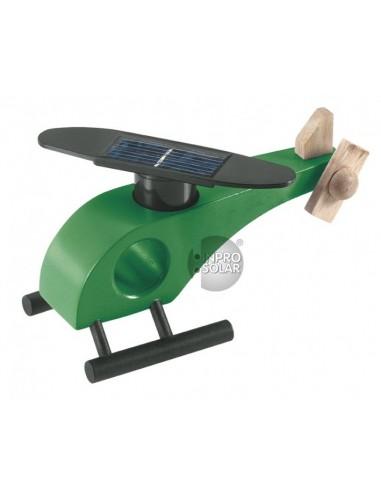 Elicopter solar lemn
