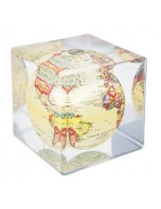 Glob solar rotativ Mova cube Antique