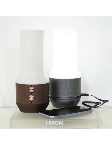 Lampa cu boxa si powerbank Lexon Terrace gold