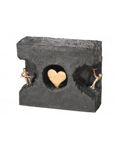 """Statueta bronz """"In cautarea dragostei"""""""