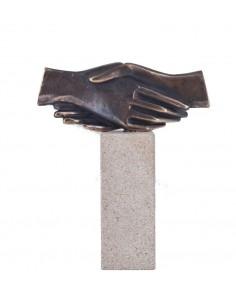 """Statueta bronz """"Strangere de mana"""""""