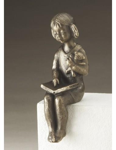 "Statueta bronz ""Fata citind"" editie limitata"
