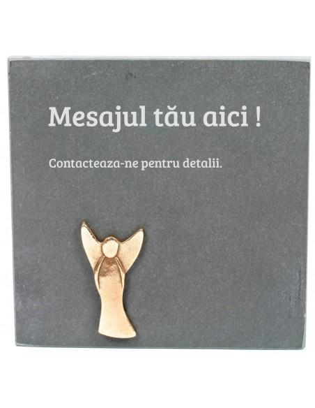 "Placheta piatra ""Ingeras"" bronz masiv"
