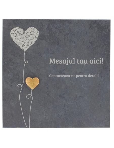"Placheta piatra ""dragoste"" bronz masiv"