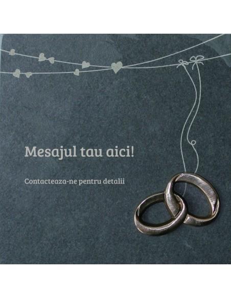 "Placheta piatra ""casatorie"" bronz masiv"