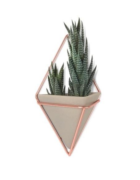 Set 2 vaze perete Umbra Trigg cupru