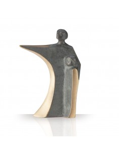 "Statueta bronz ""Tata si fiu"""