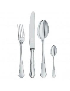 Set tacamuri argint masiv Barocco, 48 piese