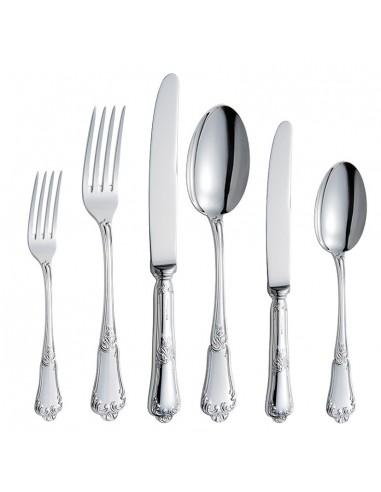 Set tacamuri argint masiv Floreale, 126 piese