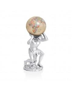 Glob rotativ solar Mova cu suport argint Atlas Antiq