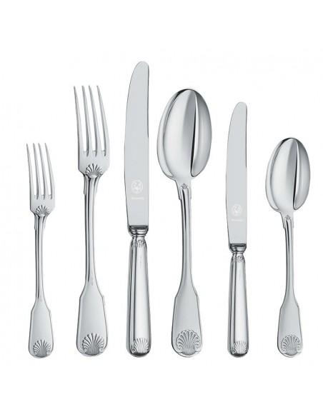 Set tacamuri argint masiv Conchiglia, 77 piese