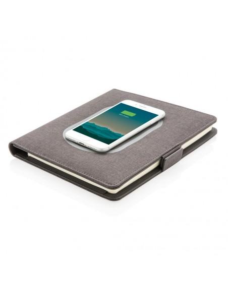 Agenda A5 cu incarcator wireless 5W