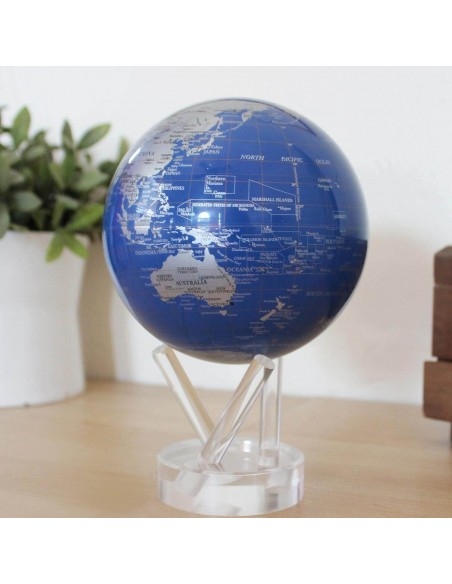 Glob pamantesc solar rotativ Mova Blue Silver