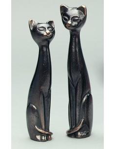 "Set 2 statuete bronz masiv ""Pisici"""