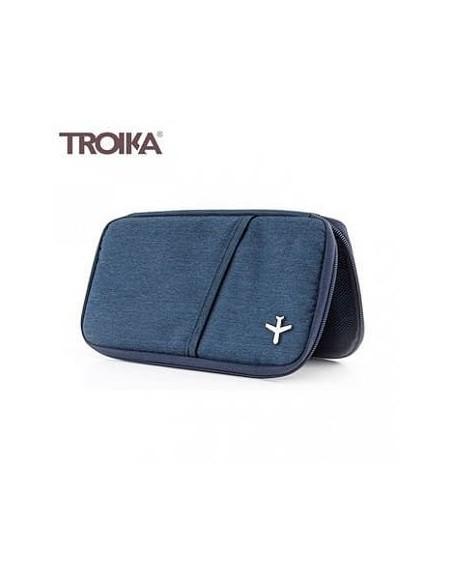 Portofel calatorie TROIKA Safe Flight RFID albastru