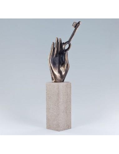 """Statueta bronz """"Deschide usa"""""""