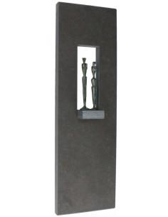 "Placheta decor piatra ""Cuplu Royal"" bronz masiv"