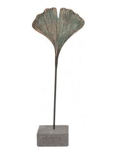 """Statueta bronz """"Frunza de Ginkgo"""""""