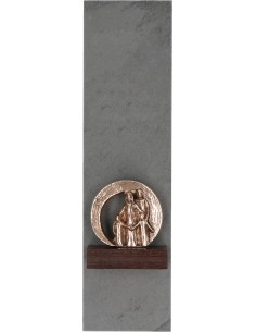"""Decor """"Camin ocrotit"""", piatra si bronz masiv"""